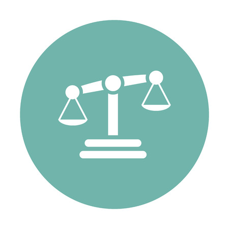 judicial system: vector illustration of business and finance icon scales Illustration