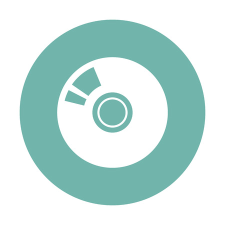 con: vector illustration of modern i con disk