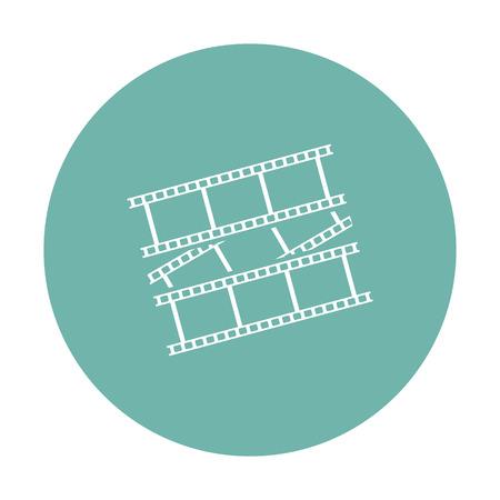 foto: vector illustration of modern b lack icon frame cinema