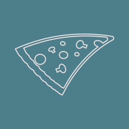 illustration of business and finance icon pizza Vector