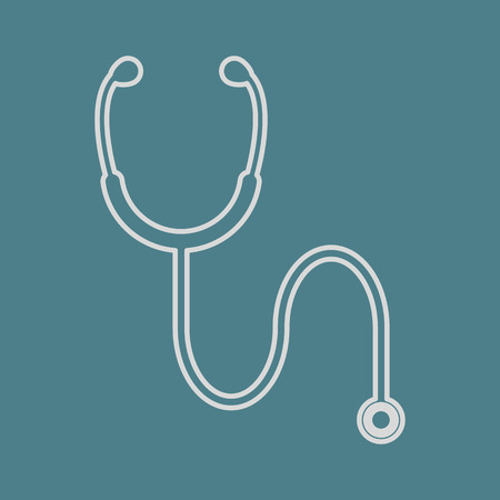 stethascope: vector illustration of modern b lack icon stethoscope