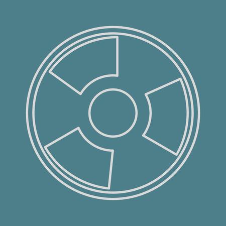 vector illustration of modern b lack icon radiation