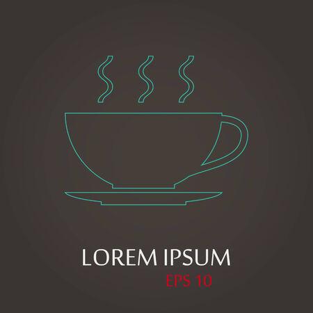 lack: vector illustration of modern b lack icon coffee