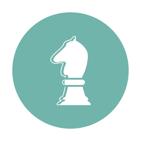 tactic: vector illustration of modern silhouette icon horse