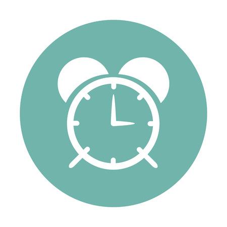 ilhouette: vector illustration of modern s ilhouette icon alarm clock