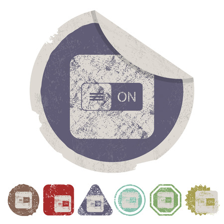 illustration of business and finance icon button Illustration