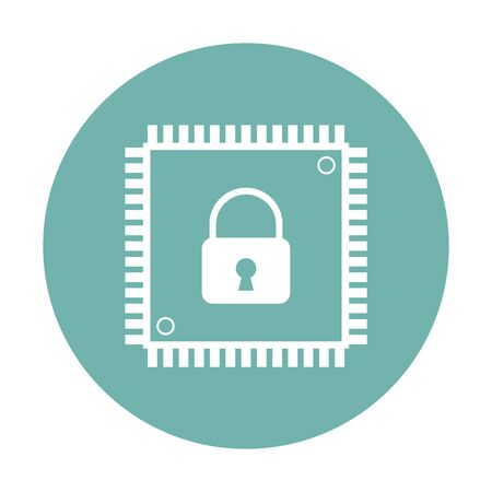 microprocessors: vector illustration of modern b lack icon cpu
