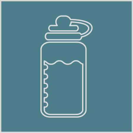 vector illustration of modern silhouette icon water Vector