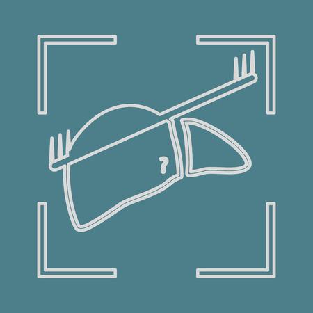 bile: vector illustration of modern b lack icon scanning liver Illustration