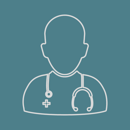 malady: vector illustration of modern b lack icon doctor Illustration