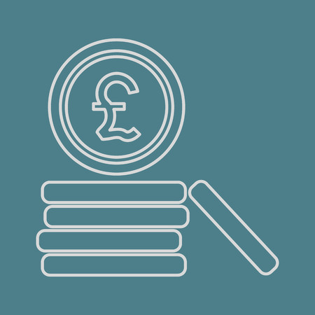 sterling: illustrazione vettoriale di affari e finanza monete icona sterlina