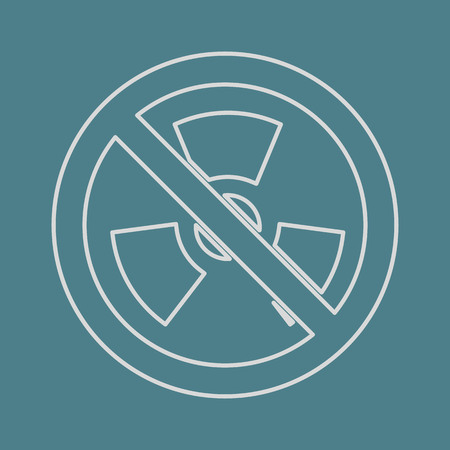 nuke: vector illustration of modern b lack icon radiation