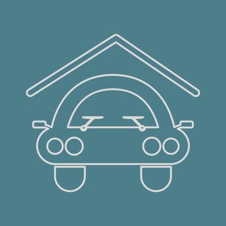ownership: vector illustration of modern b lack icon signaling