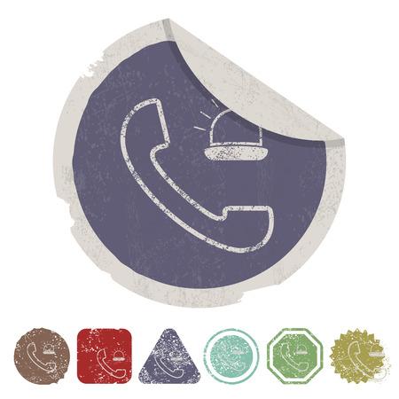malady: vector illustration of modern b lack call icon an ambulance Illustration