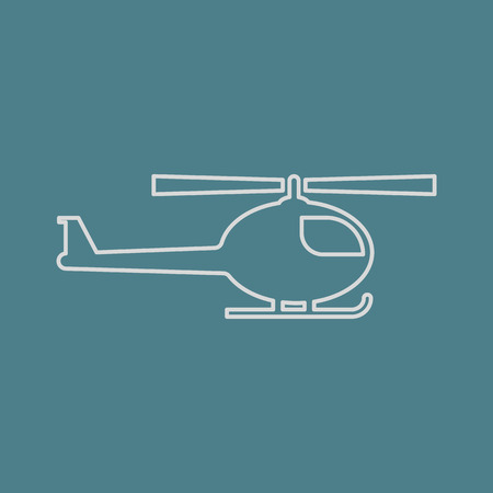 sikorsky: vector illustration of modern b lack icon helicopter Illustration