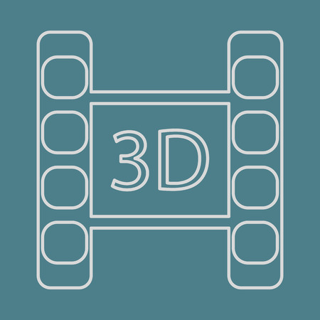 foto: vector illustration of modern icon frame cinema Illustration