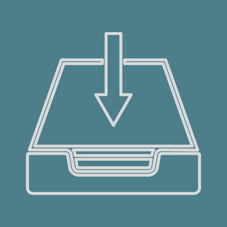 lack: vector illustration of modern b lack icon download