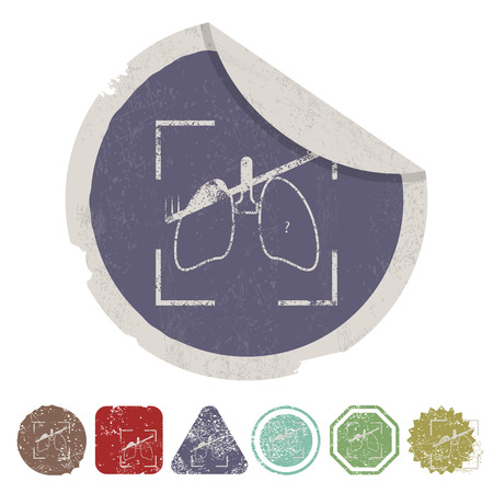 respiratory protection: vector illustration of modern b lack icon lungs