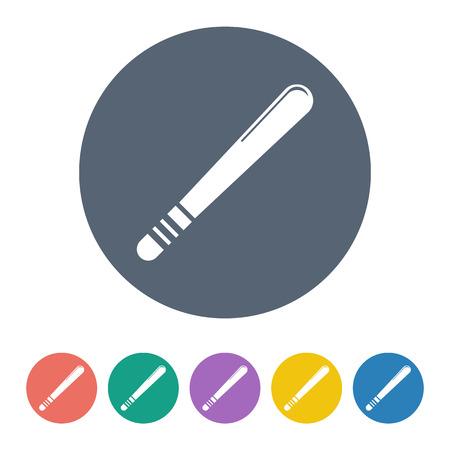 lack: vector illustration of modern b lack icon baton protection