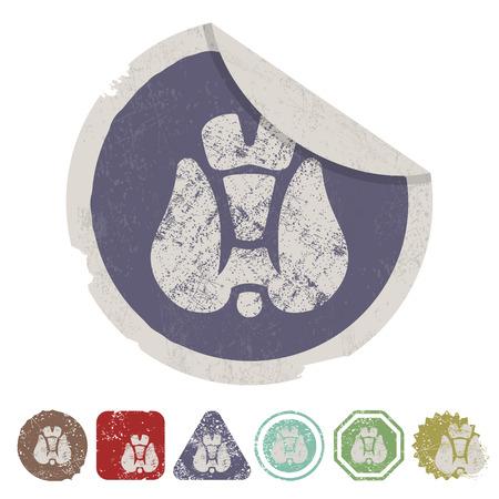 vector illustration of modern b lack icon thyroid Vector Illustration