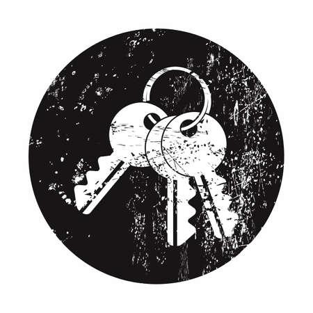 vector illustration of modern b lack icon key