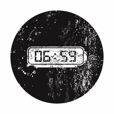 lack: vector illustration of modern b lack icon alarm clock Illustration