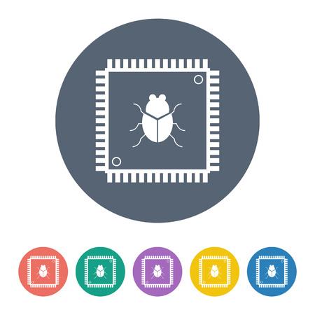 microprocessor: vector illustration of modern b lack icon cpu