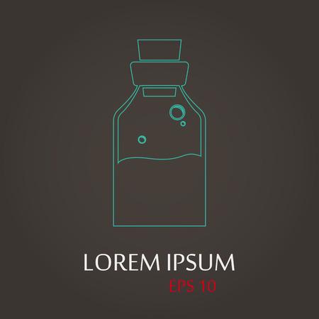 lack: vector illustration of modern b lack icon medicines