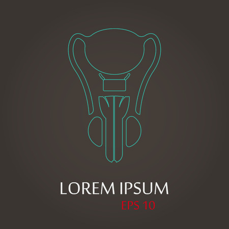 vector illustration of modern b lack icon male organ