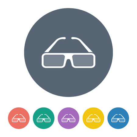 lack: vector illustration of modern b lack icon glasses 3d