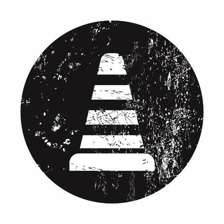 lack: vector illustration of modern b lack icon traffic cone