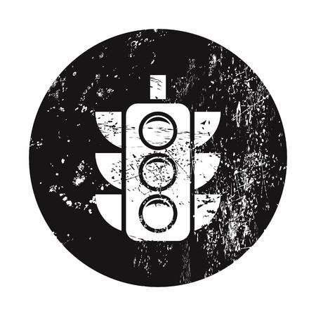 lack: vector illustration of modern b lack icon traffic light