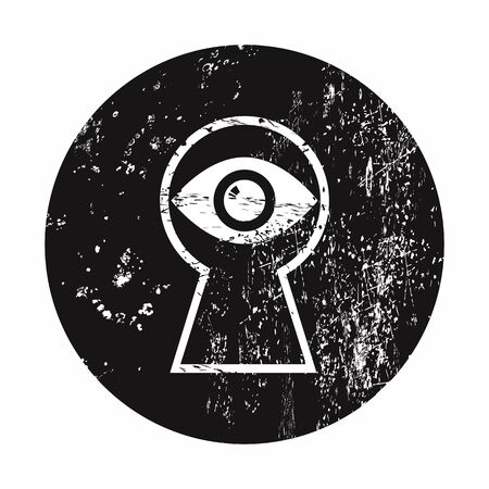 lack: vector illustration of modern b lack icon detective