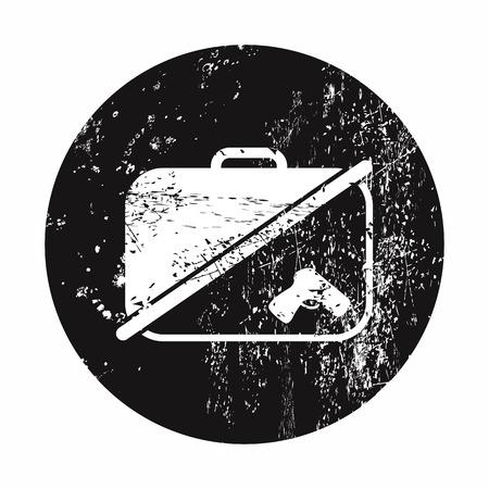 vector illustration of modern b lack icon detector Illustration