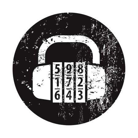 lack: vector illustration of modern b lack icon lock Illustration