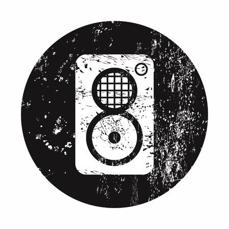 vector illustration of modern b lack icon subwoofer