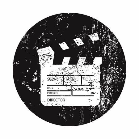 lack: vector illustration of modern b lack icon clapper board