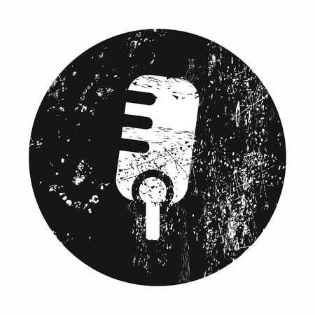 lack: vector illustration of modern b lack icon microphone