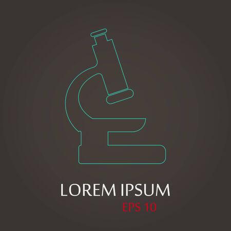 lack: vector illustration of modern b lack icon microscope