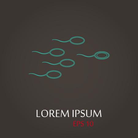 espermatozoides: ilustración vectorial de la moderna b falta icono de esperma Vectores