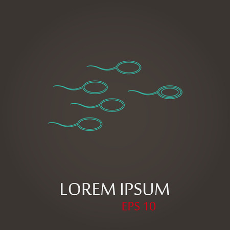 vector illustration of modern b lack icon sperm Vector