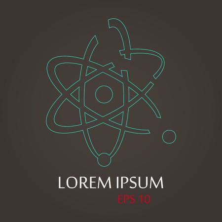 lack: vector illustration of modern b lack icon atom