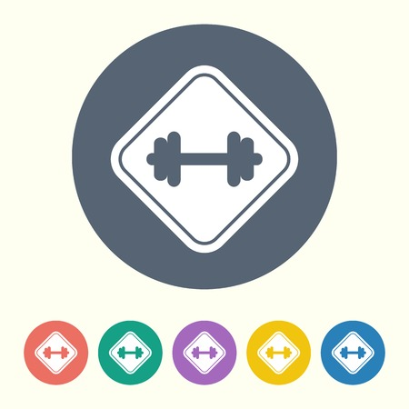 vector illustration of modern silhouette icon barbell Vector