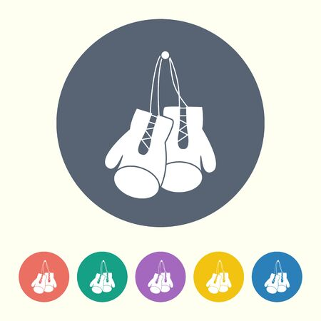 illustration of business and finance icon boxing gloves Vector