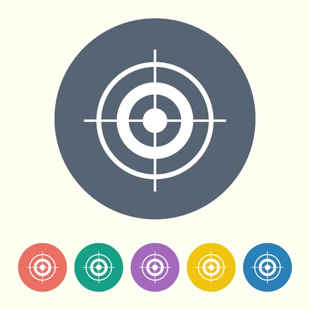 target: vector illustration of business and finance icon target