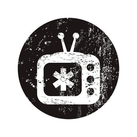 show case: vector illustration of modern b lack icon medical tv
