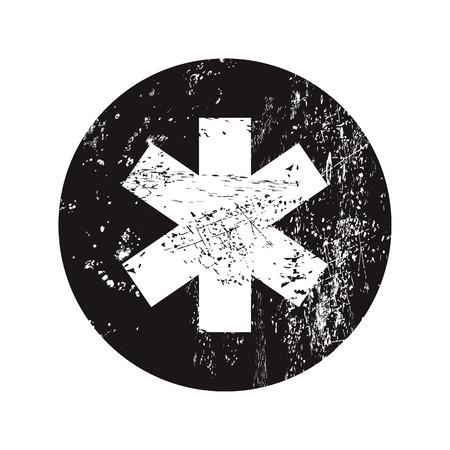 scepter: vector illustration of modern b lack icon medical