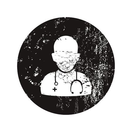 hospitalisation: illustration vectorielle de b moderne manque ic�ne m�decin Illustration