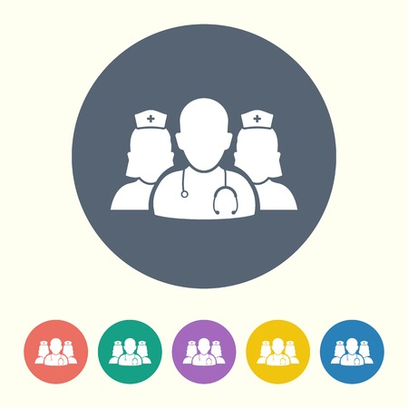 vector illustration of modern black icon medical staff Illustration