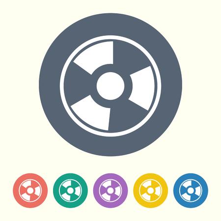 radiacion: ilustración vectorial de la moderna radiación icono negro